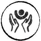 Icon with hands representing care and concern
