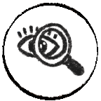 Icon with an eye representing truth