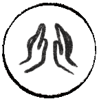 Icon with hands representing spirituality
